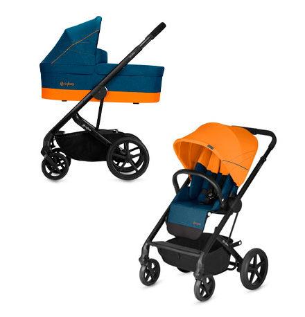 carros de paseo de bebé - carrito bebe cybex balios S 2 piezas tropical blue 440x458 - Carritos de bebé