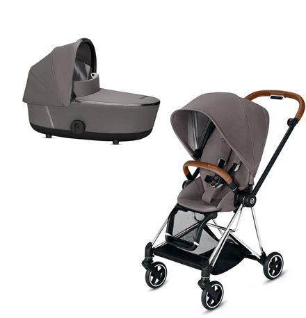 carros de paseo de bebé - carrito bebe mios 2 piezas manhattan grey chasis cromado 440x458 - Carritos de bebé