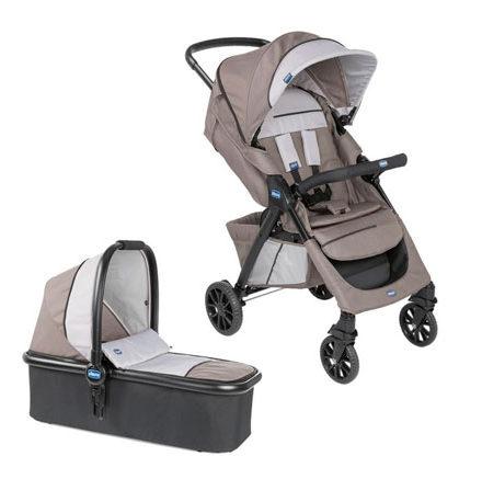 carros de paseo de bebé - carro beb   chicco 2 piezas kwik one moka 440x458 - Carritos de bebé