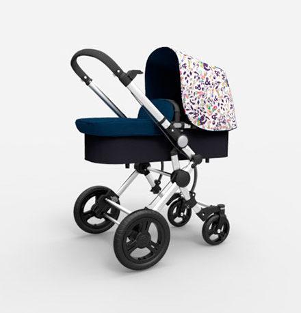 carritos de bebé - carro bebe 2 piezas baby essential babe ace 024 capota VictorioLucchino chasis cromado marino 440x458 - Carritos de bebé