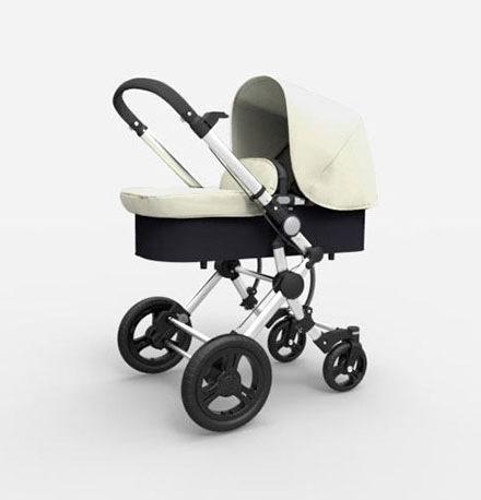 carritos de bebé - carro bebe 2 piezas baby essential babe ace 024 capota fresh y extensible chasis cromado blanco 440x458 - Carritos de bebé