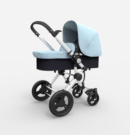 carros de paseo de bebé - carro bebe 2 piezas baby essential babe ace 024 chasis cromado azul bebe 440x458 - Carritos de bebé