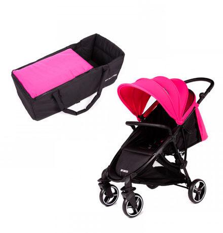carritos de bebé - carro bebe baby monster 2 piezas phoenix fucsia capazo soft fucsia 440x458 - Carritos de bebé