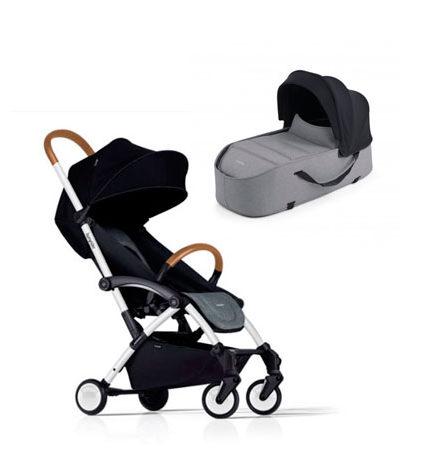 carros de paseo de bebé - carro bebe bumprider connect gris chasis blanco dos piezas capazo gris 440x458 - Carritos de bebé