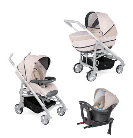 carros de paseo de bebé - carro bebe chicco 3 piezas love up isofix beige 440x458 - Carritos de bebé