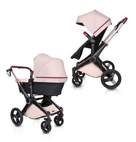 carros de paseo de bebé - carro bebe roberto verino 2 piezas stone 4 440x458 - Carritos de bebé