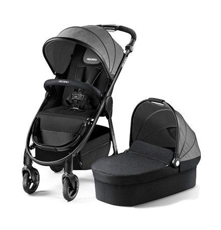 carros de paseo de bebé - silla de paseo recaro 2 piezas cityliife graphite 440x458 - Carritos de bebé