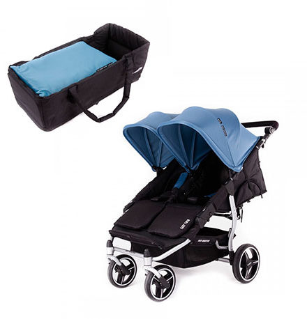 carritos de paseo - sillas de paseo gemelar baby monster easy twin atlantic 1 capazo 440x458 - Carritos de paseo