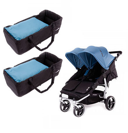 carritos de paseo - sillas de paseo gemelar baby monster easy twin atlantic 2 capazo 440x458 - Carritos de paseo