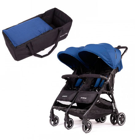 carros de paseo de bebé - sillas de paseo gemelar baby monster kuki twin midnight 1 capazo semirigido midnight 440x458 - Carritos de paseo