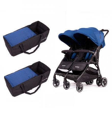 carros de paseo de bebé - sillas de paseo gemelar baby monster kuki twin midnight 2 capazo semirigido midnight 440x458 - Carritos de bebé