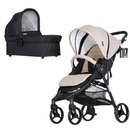 carros de paseo de bebé - sillas de paseo ligera nikimotion autofold 2 piezas mink 440x458 - Carritos de bebé