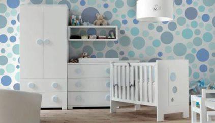 Cuna-geometrics-burbujas-azules-TAKATA cunas para bebé - Cunas para bebé