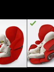 Silla de coche Solution Z i-Fix de Cybex-niño-dormido