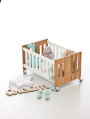 Minicuna colecho NICOLA de IKid-juguetero-blanco-naural