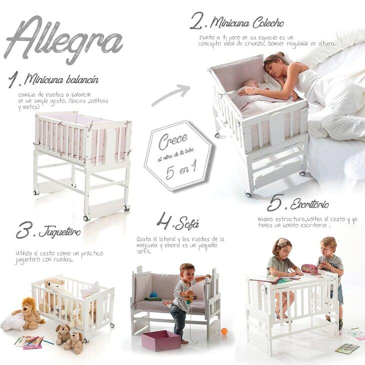 Minicuna-colecho-ALLEGRA-IKid-5-funciones cunas para bebé - Cunas para bebé