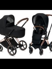 cochecito-priam-cybex-duo-casis-rosegold-dorado-capazo-y-silla-premium-black